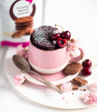 Salted Almond Chocolate Mug Cake Recipe From Lily O'Brien's