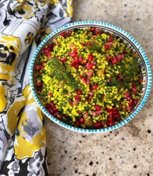 Golden Turmeric Pearl Couscous Recipe from Avoca