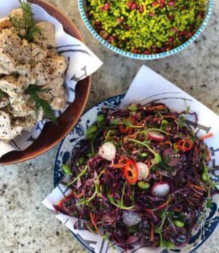 Vegan Crunchy Rainbow Sesame Slaw Recipe from Avoca