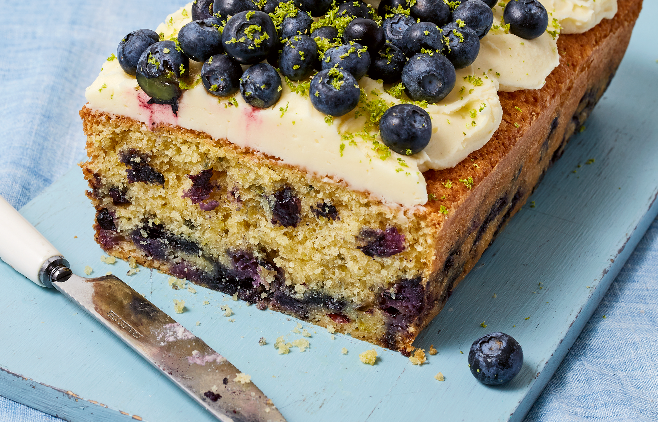 Blueberry Lime Loaf Cake Recipe by Jane's Patisserie