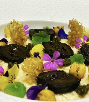 Lacto Fermented Chickpea Hummus, Seaweed Pesto, Herbed Chickpeas Peas and Pickled Walnuts Recipe by Janice Casey Bracken Head Chef Dunbrody Country House Hotel