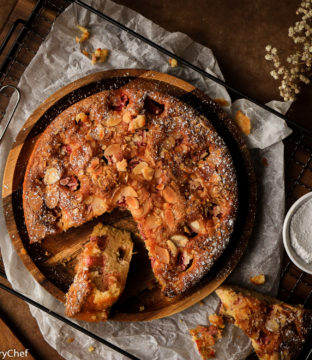 Rhubarb Almond Cake Recipe by Pink Haired Pastry Chef – Gluten and Dairy Free